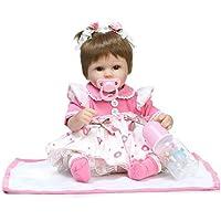 NPKDOLLシミュレーションRebornベビー人形ソフトSiliconeビニール18インチ45 cm Lifelike Vivid Toy Boy Girl rd45 C045o Eyes Open