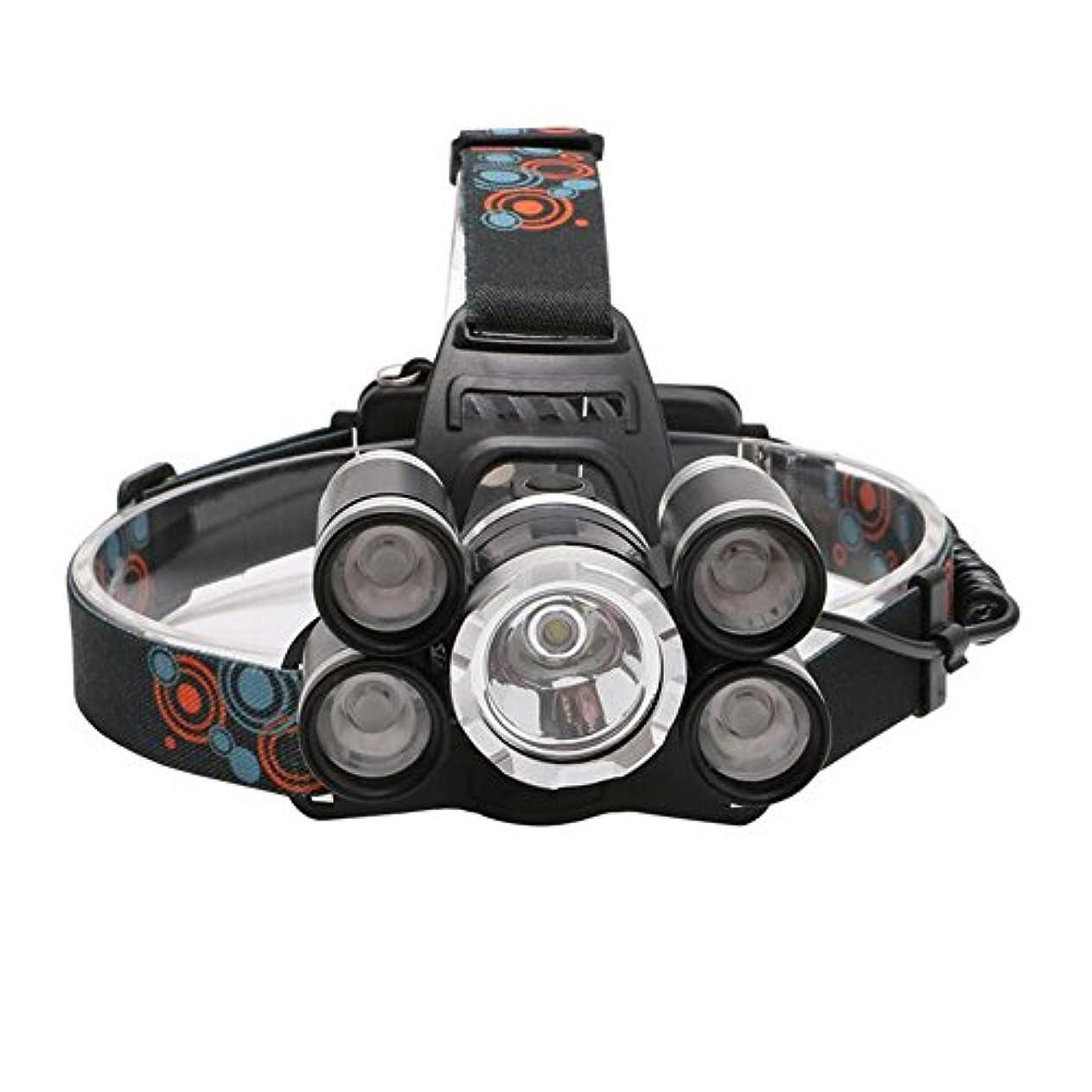 変なみがきます腐敗LED充電式ヘッドランプ、スーパーブライトヘッドトーチ、4モード、防水ヘッドライトスポットライト、サイクリング、クライミング、キャンプ、犬の散歩、ハイキング(バッテリーと充電器付き)