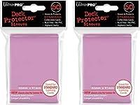 Ultra Pro (100x) Pink Deck Protectors Sleeves Standard MTG Colors [並行輸入品]