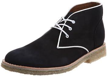 Piped Chukka Boot 125: Navy