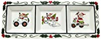 Cosmos Gifts 10668 3-Section Holiday Plate with Separate Designs, 41cm