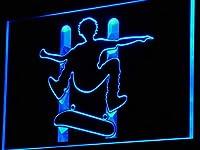 ADVPRO Skateboard Jump Action Beer Bar LED看板 ネオンプレート サイン 標識 Blue 600 x 400mm st4s64-i794-b