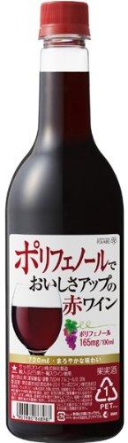 ポレール ポリフェノールでおいしさアップ 赤ワイン 中口 720ml