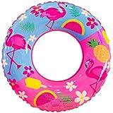 YIGO 浮き輪 浮輪 浮き具 うきわ 子供用 プールの浮子 エア入りのいかだ 子供のプールのおもちゃ 水遊び スイミング 子供用 簡単に空気入れ 便利に携帯 海水浴 おしやれ フラミンゴ 直径60cm