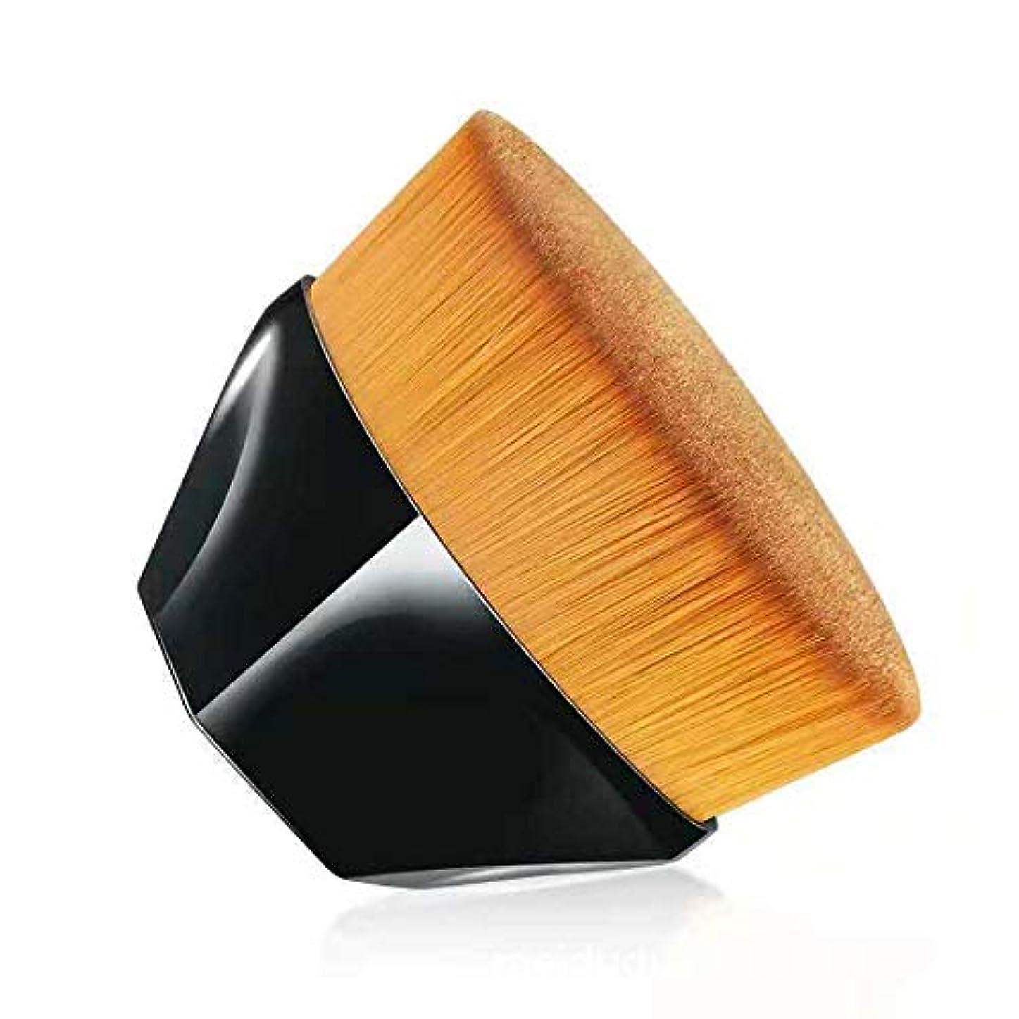 コーラス木説明的柔らかい高級繊維毛化粧ブラシ 携帯便利メイクアップブラシ 肌にやさしいファンデーションブラシ 化粧筆 (ブラック)