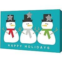 雪だるま3モダンby Linda Woods – ギャラリーWrapped Gicleeキャンバスアートプリント – Ready To Hang 20