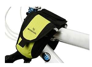 ROSWHEEL ロスホイール サイクル フレームバック フロントサイドバック 簡易防水加工 5色展開 0.8L (黄緑)