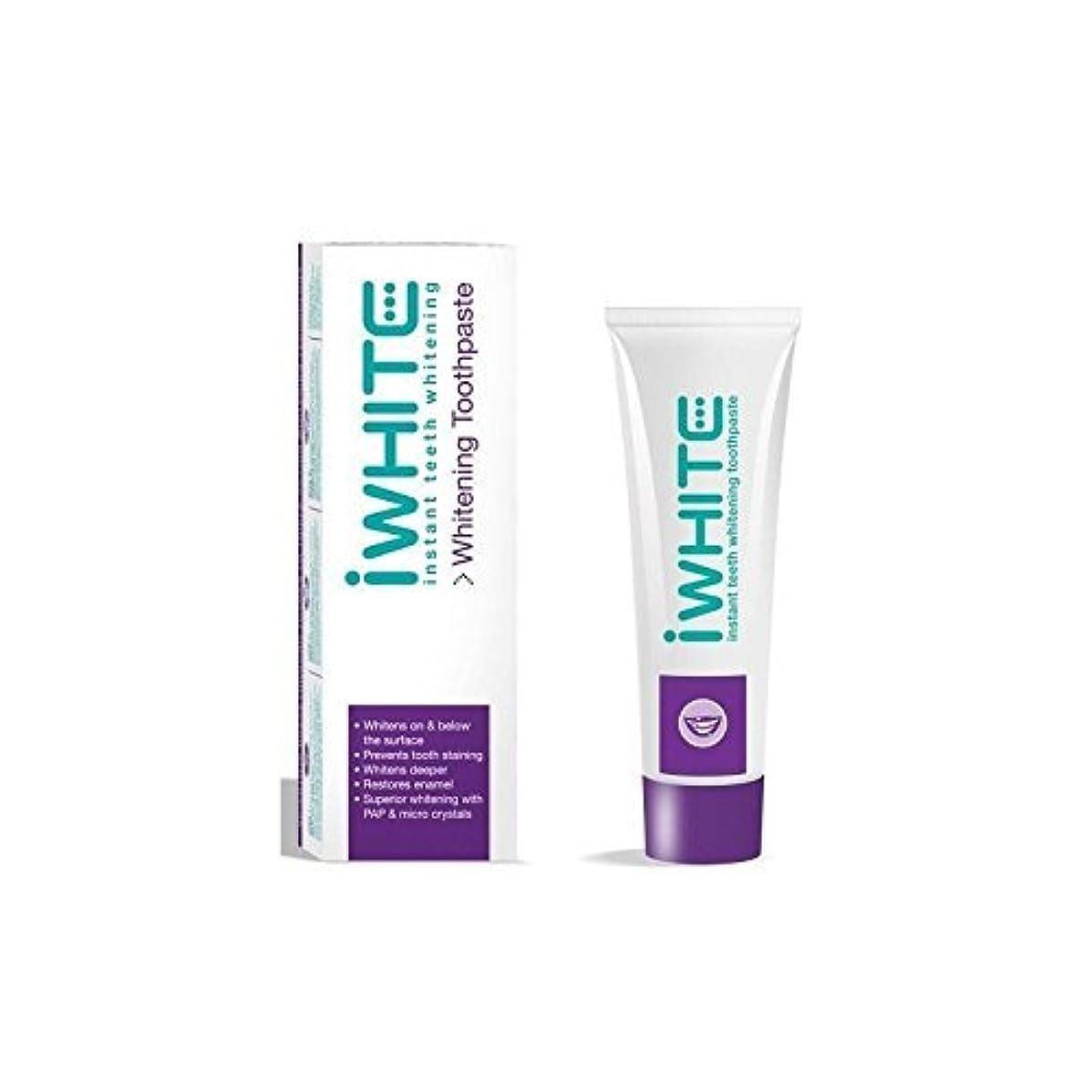 最初実現可能腹iWhite Instant Teeth Whitening Toothpaste (75ml) by iWhite