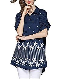 Hardy 女性の特別な刺繍のデザインルーズエレガントなシャツ