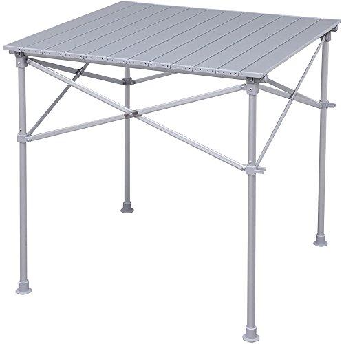 アイリスプラザ ロールテーブル アウトドア 幅70×奥行70×高さ70cm