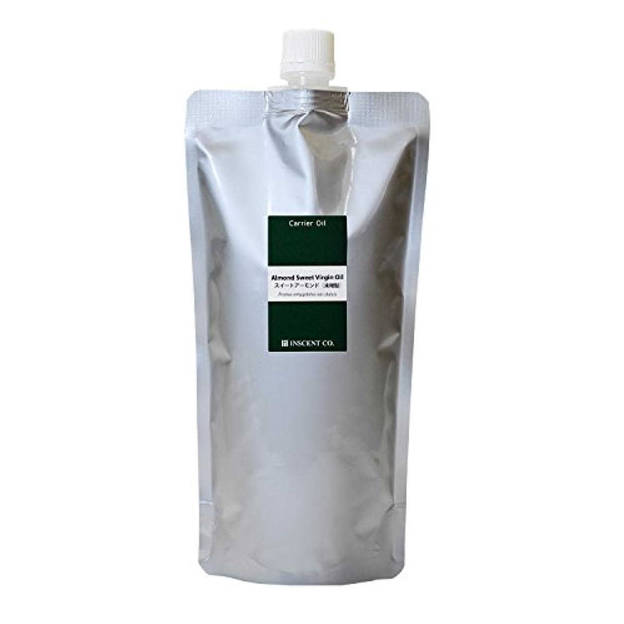 あえぎ健康的意志に反するスイートアーモンドオイル[未精製] 500ml ~キャリアオイル(植物油/ベースオイル)~ (※アルミパック入り)