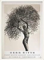 ポスター ハーブ リッツ Neith with Tumbleweed 1986年 限定12/88 サイン入り 額装品 ウッドベーシックフレーム(ホワイト)