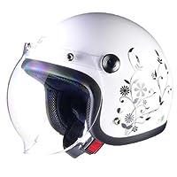 リード工業 バイクヘルメット ジェット Street Alice QP-2 スモールローホワイト レディースフリー (頭囲 55cm~57cm未満)