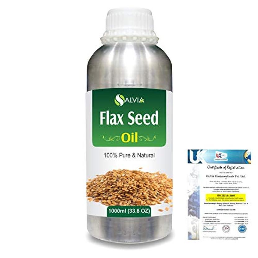 曲げるブーム選挙Flax Seed (Linum usitatissimum) 100% Natural Pure Undiluted Uncut Carrier Oil 1000ml/33.8 fl.oz.