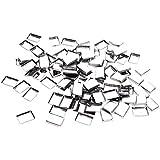 B Baosity 約100個 メイクアップパン 化粧パレット DIY 旅行小物 金属製 3タイプ選べ - リタングル