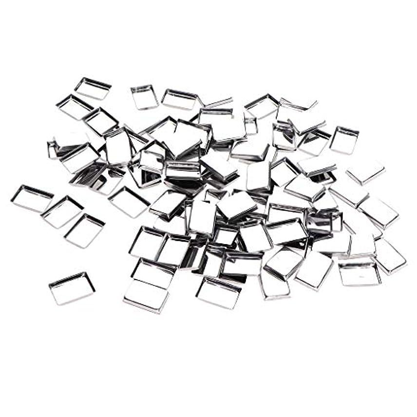 流に話すゲートウェイ約100個 メイクアップパン 化粧パレット DIY 旅行小物 金属製 3タイプ選べ - リタングル