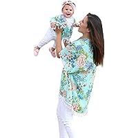 simayixx Mommy and Me Beachwearカーディガン、Boho Tassel Kimonoファミリ服装服