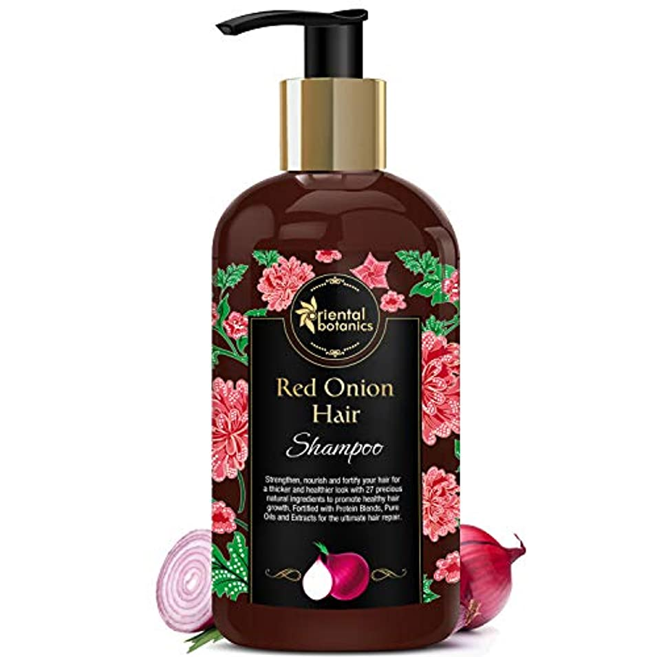 ドアマラドロイト恐怖症Oriental Botanics Red Onion Hair Growth Shampoo, 300ml - With 27 Hair Boosters Controls Hair Loss & Promotes Healthy...