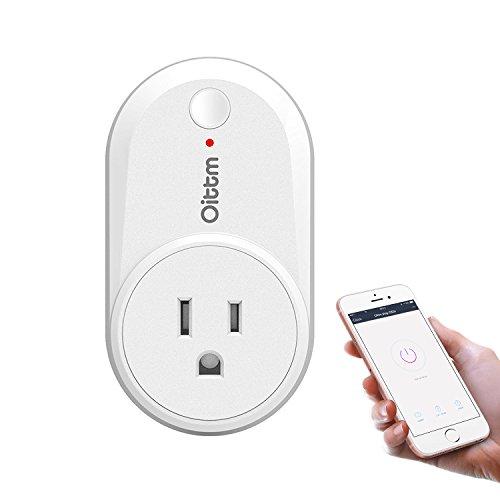 Oittm スマートコンセント WiFi電源コンセント スマートプラグ 省エネ USプラグ 家庭用電源リモートスイッチ APPコントロール機能 どこでもコントロール 2.4GMhz 自宅の電源をスマホから遠隔操作できる Amazon Alexa対応 ホワイト
