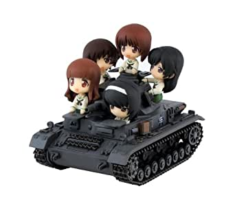 ぺあどっと ガールズ&パンツァー IV号戦車D型 エンディングver. ノンスケール 全長約90mm フィギュア 5体付 塗装済完成品 PD11