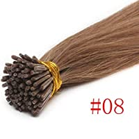 FidgetGear 7A 1.0g / s 16-22インチのケラチンスティックI Tip Remy人毛エクステンション50 / 100G #08栗茶色