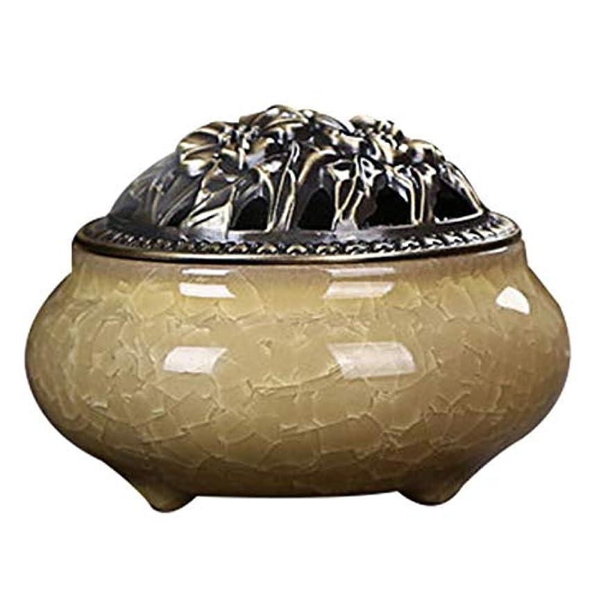 扇動する説教する十分にZhaozhe陶磁器 香炉 香皿 セラミック 渦巻き線香 アロマ などに