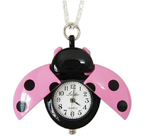[해외]무당 벌레 회중 시계 핑크/Ladybug pocket watch Pink