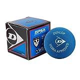 DunlopスポーツSquash DoublesレッドドットHardball、ブルー(Pack of 12)