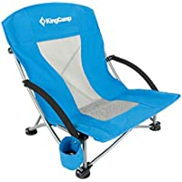 KingCamp Low Sling Beach Camping Concert Folding Chair with Mesh Back
