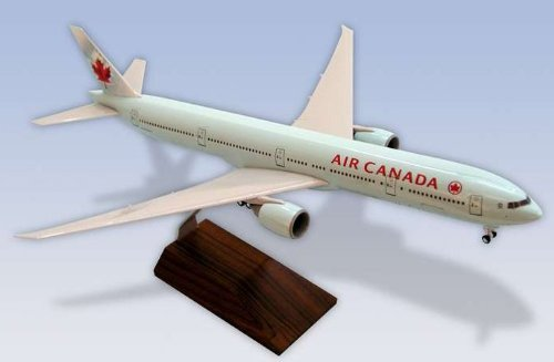 1: 200 スカイマークス Air Canada ボーイング 777-300ER with Landing Gear and Wood Base (並行輸入)