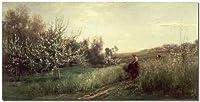 TrademarkART Charles Daubigny Spring 1857 キャンバスアート 24 by 47-Inch BL0158-C2447GG
