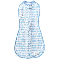 Woombie Convertible Unvented Boy's Nursery Swaddling Blankets, Beep Beep Cars, 20-25 Pounds by Woombie