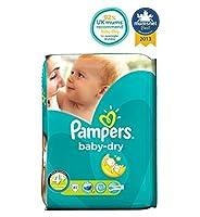 パンパースベビードライおむつサイズ4+不可欠パック - 41おむつ (Pampers) (x2) - Pampers Baby-Dry Nappies Size 4+ Essential Pack - 41 Nappies (Pack of 2) [並行輸入品]