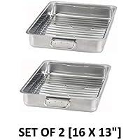 IKEA - KONCIS Roasting pan with grill rack stainless steel (2 16x13) [並行輸入品]