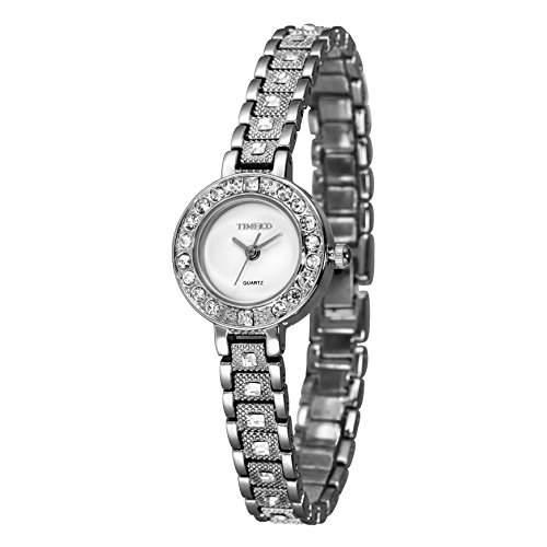 Time100 腕時計 ダイヤモンド 素敵なブレスレット レディースウォッチ W50145L.01A (ホワイト)…