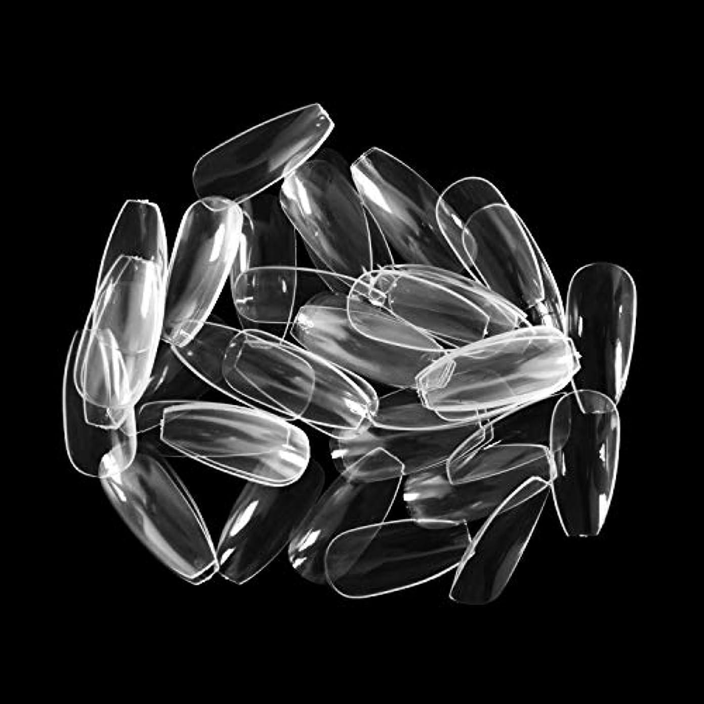 後継予測子家禽ネイルチップ Missct つけ爪 無地 ロング スクエア型 600枚入れ 10サイズ 爪にピッタリ 付け爪 練習用 透明 ネイル用品 デコレーション ネイルアート