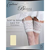 Couture Womens/Ladies Bridal Soft & Sheer Lace Top Stockings (1 Pair)