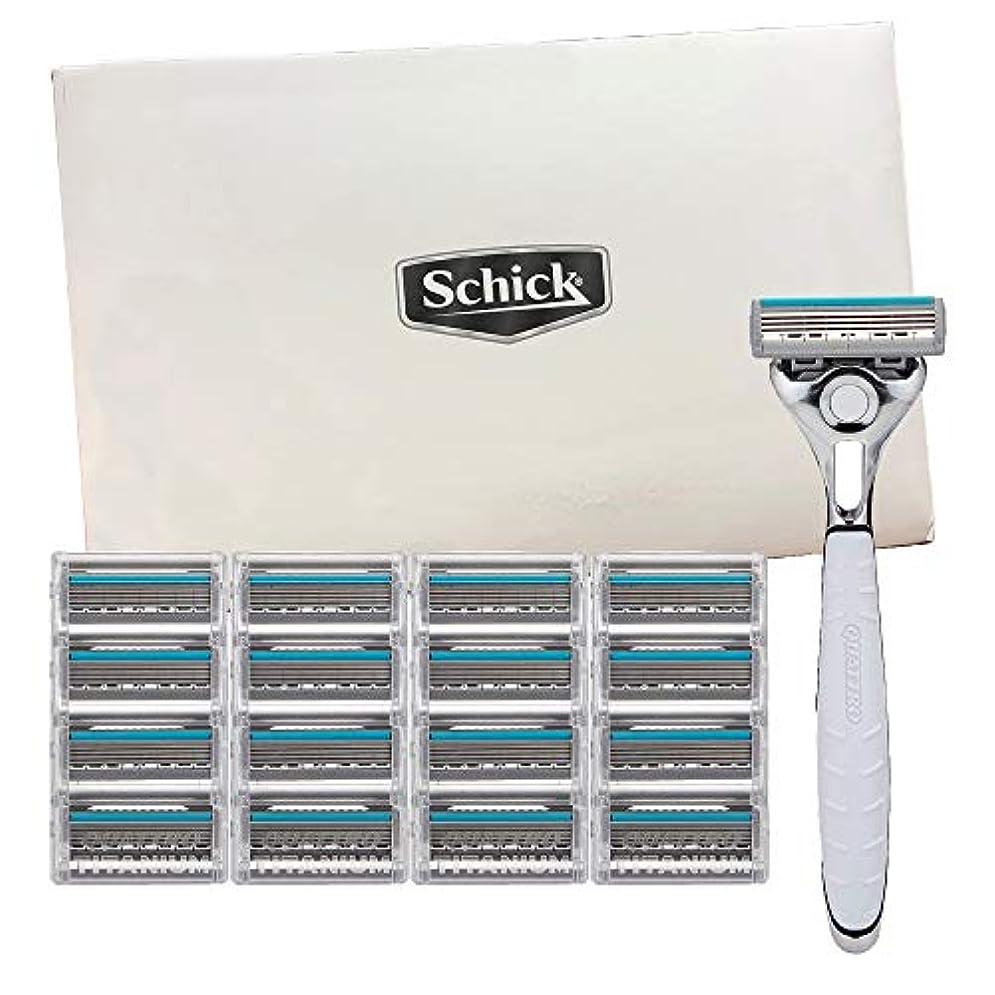 そんなに壮大な買い手Schick Quattro Titanium for Men With 1 Razor and 16 Razor Blades Refills 141[並行輸入]