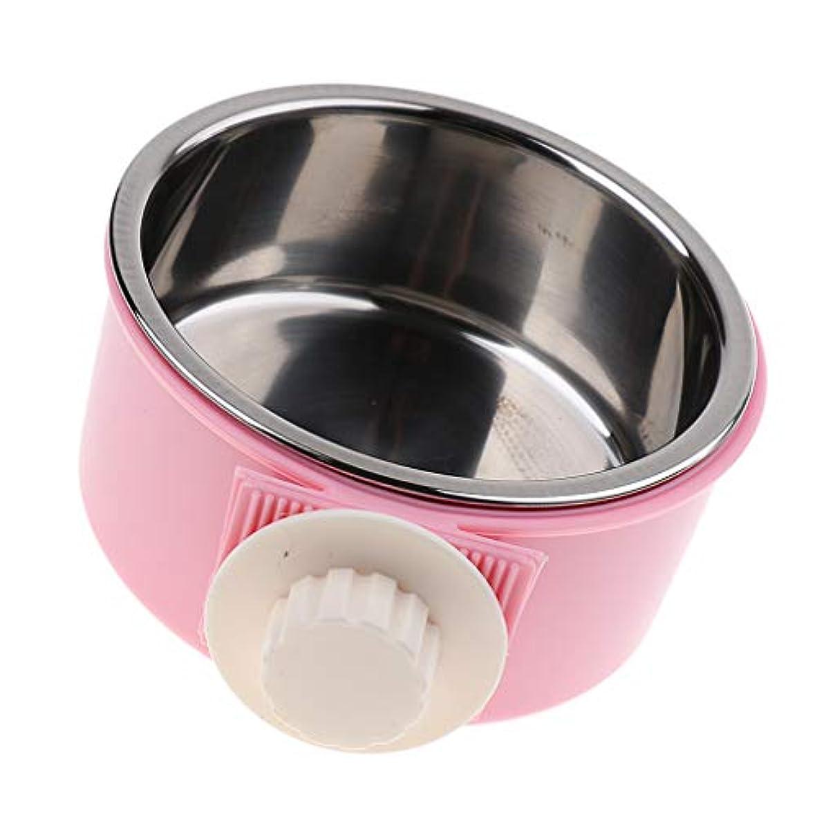 Baoblaze 取り外し可能 水 食品 フィーダ ボウル 犬 猫 ボウル 2色選べる - ピンク