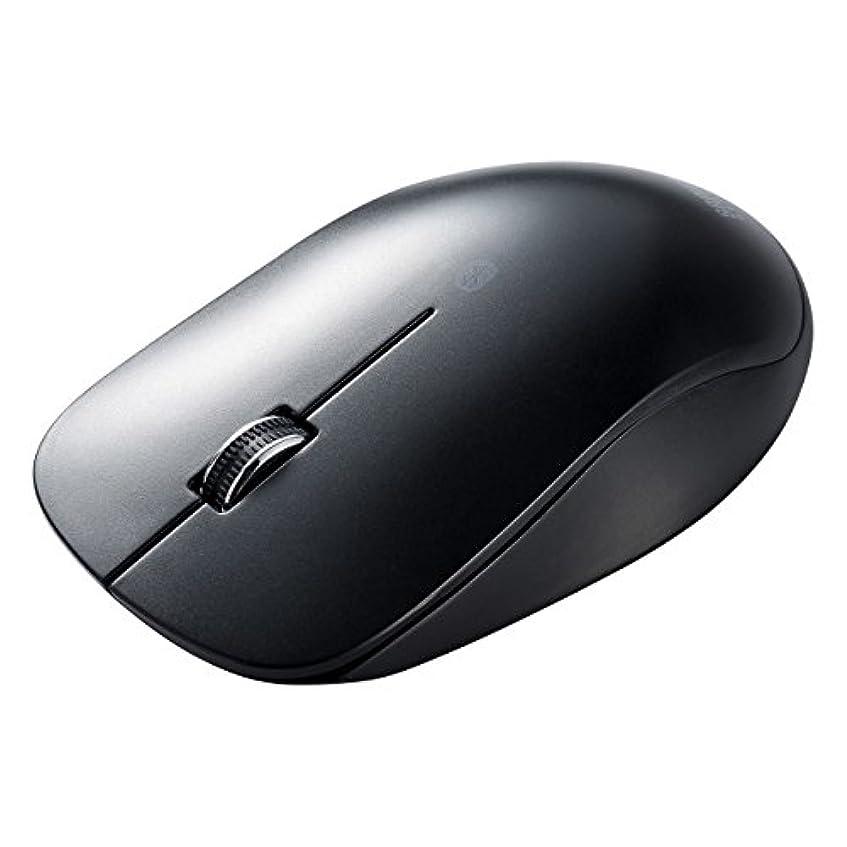 懲らしめ第二したがってサンワダイレクト 超薄型 ワイヤレスマウス Bluetooth3.0 ブルーLED Android スマホ タブレット ブラック 400-MA093BK
