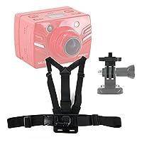 DURAGADGETプレミアム品質Niloxカメラアクションカメラ胸ハーネスマウント–完全に調節可能なチェストハーネスマウントクイックrelease-buckle for新しいNiloxアクションカムMini、Nilox f-60、Nilox Foolish Ducati、Nilox Foolish特別な、Nilox Foolish & Niloxチューブ