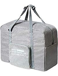 Chrislley 折り畳みボストンバッグ スーツケースの持ち手に通せる キャリーオンバッグ 収納ポケット 折りたたみ ボストンバッグ