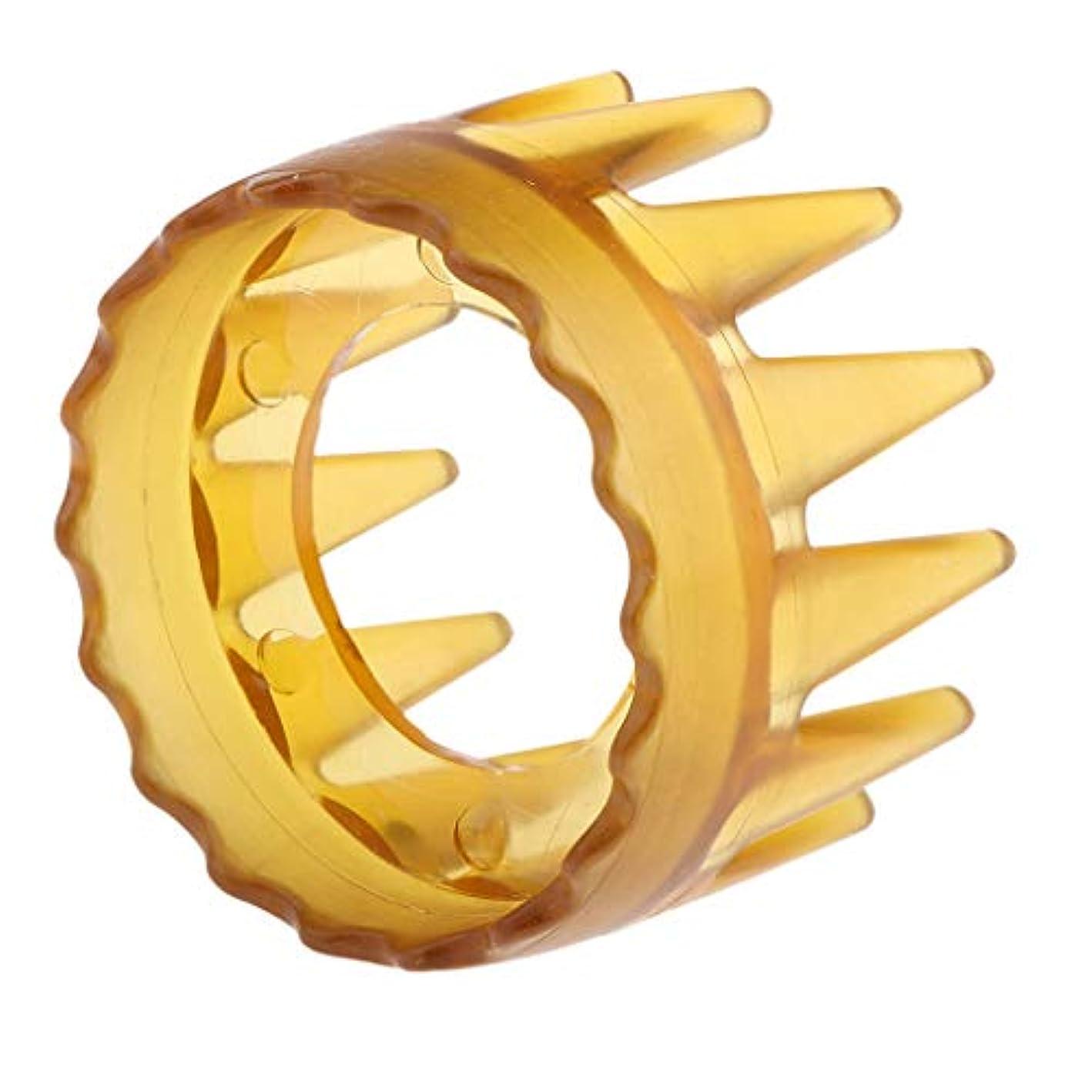 保持する抑制弾丸B Blesiya 頭皮マッサージ シャワー シャンプー ヘアブラシ マッサージャー櫛 ユニセックス 4色選べ - 黄
