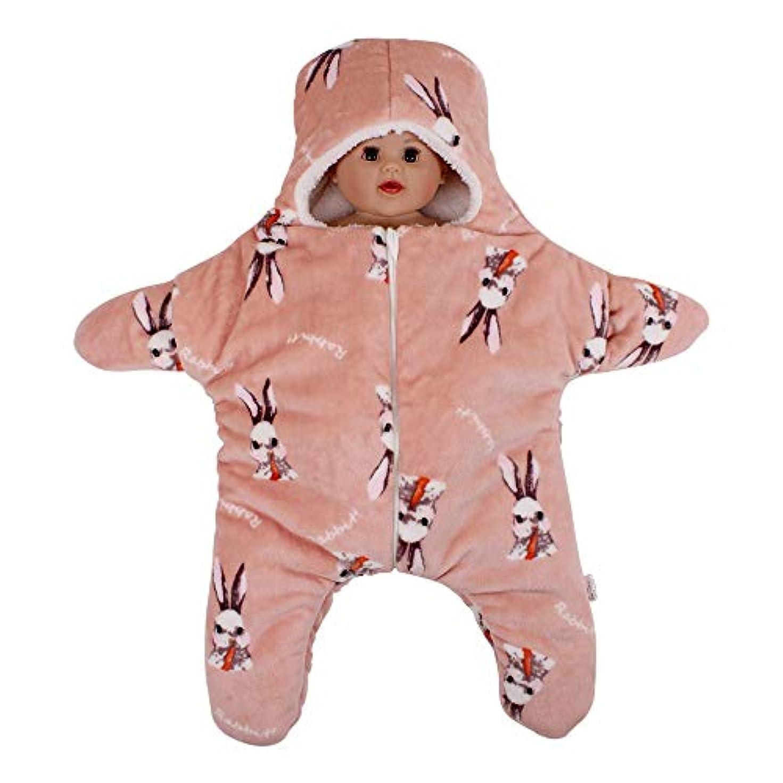 アサー汚染された相談KINDOYO 生まれたばかりの赤ちゃんの寝袋 - 可愛い屋外春秋のサンゴフリースジャンプスーツ 76CM/0?6ヶ月