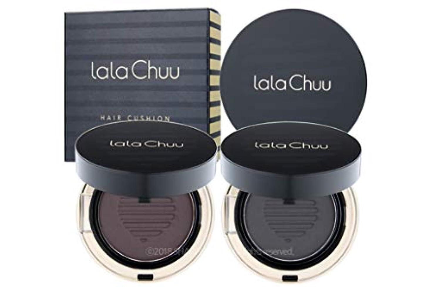 ロータリービット含む[LALACHUU] ラチュボリュームヘアクッション 15g / lala Chuu VOLUME HAIR CUSHION 15g [並行輸入品] (Natural Black)