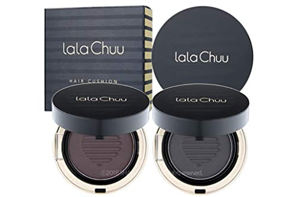アラブ弁護合図[LALACHUU] ラチュボリュームヘアクッション 15g / lala Chuu VOLUME HAIR CUSHION 15g [並行輸入品] (Natural Black)