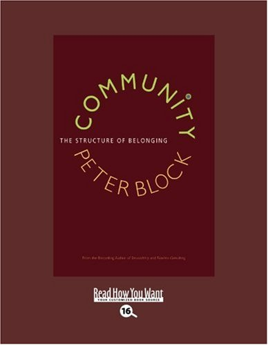 community the structure of belonging peter