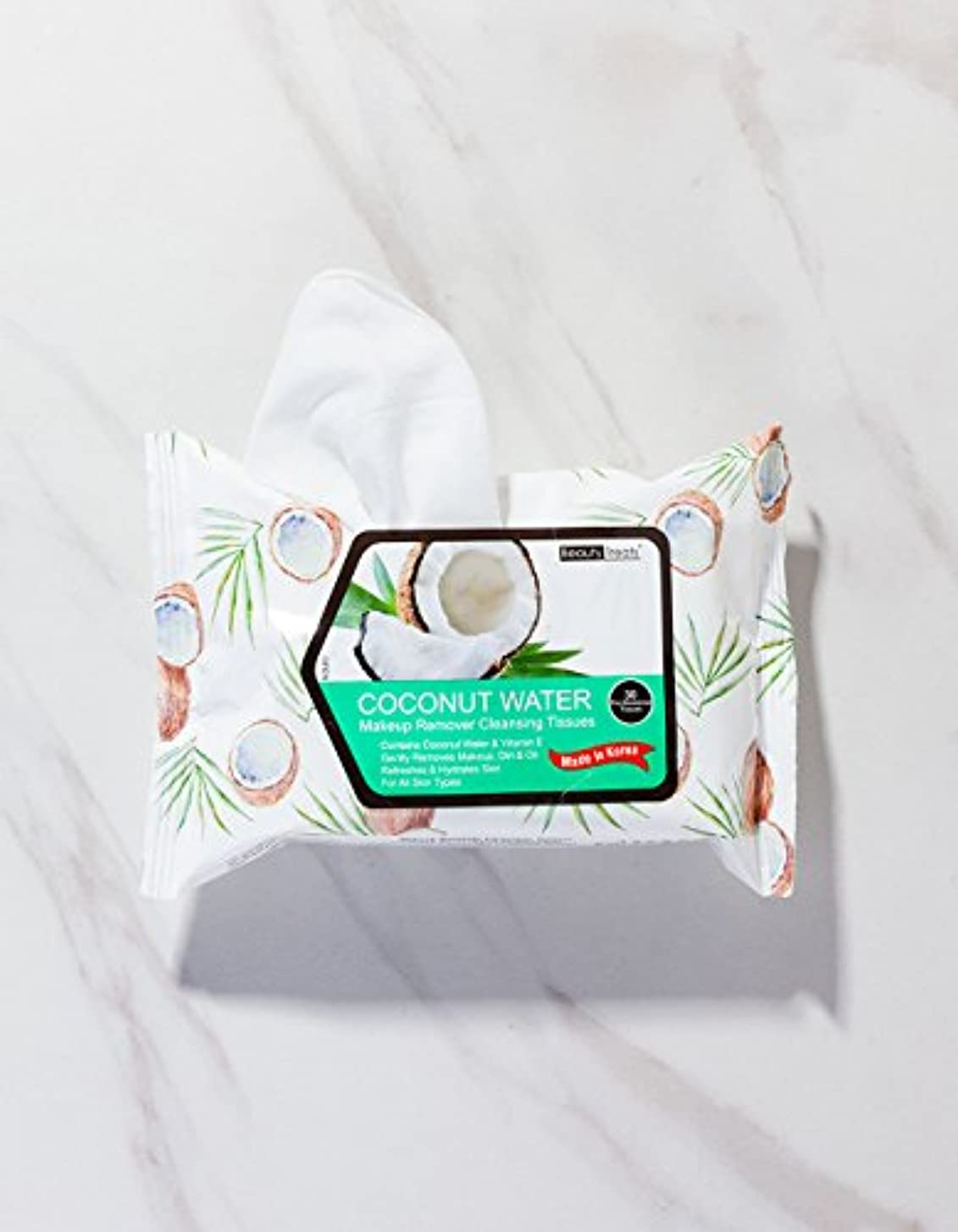 反対にペルメルキャンセルBEAUTY TREATS Coconut Water Makeup Remover Cleaning Tissues (並行輸入品)