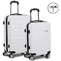 Wanderlite Luggage Suitcase Trolley Set Travel Carry On Bag Hard Case with TSA Lock