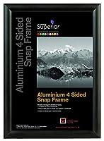 Seco A0アルミ4面25mmスナップフレーム - ブラック